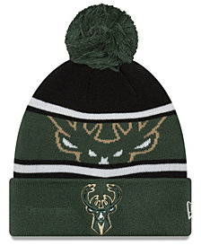 New Era Boys' Milwaukee Bucks Jr. Callout Pom Hat