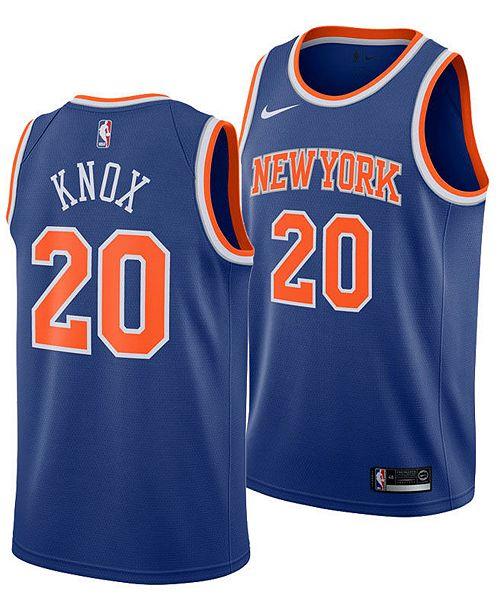 pretty nice 9fbf3 28cb4 Men's Kevin Knox New York Knicks Icon Swingman Jersey
