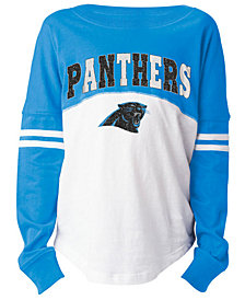 5th & Ocean Carolina Panthers Slub Long Sleeve T-Shirt, Girls (4-16)