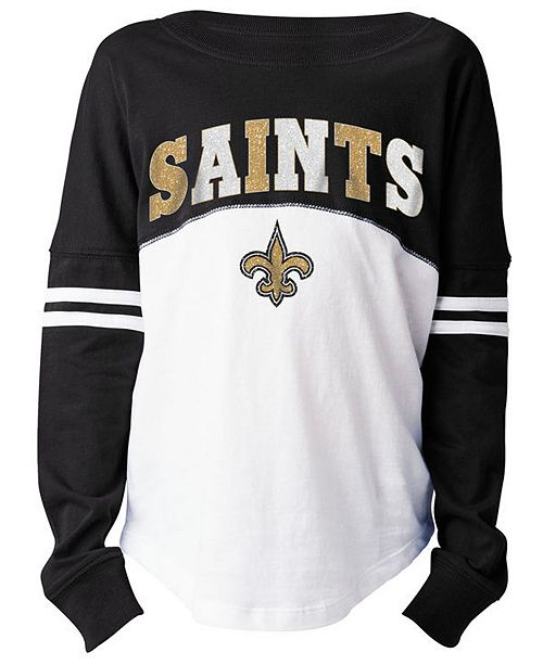 best website 8b6c6 0577d 5th & Ocean New Orleans Saints Slub Long Sleeve T-Shirt ...