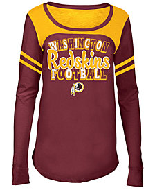 5th & Ocean Washington Redskins Sleeve Stripe Long Sleeve T-Shirt, Girls (4-16)