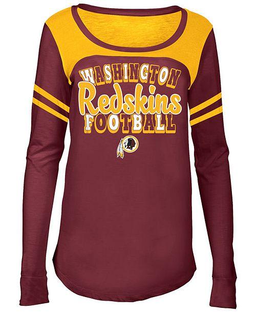 5th & Ocean Washington Redskins Sleeve Stripe Long Sleeve T-Shirt, Girls (4-16)