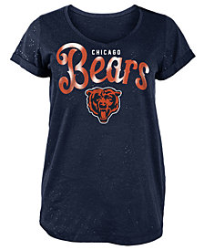 5th & Ocean Women's Chicago Bears Script Logo T-Shirt