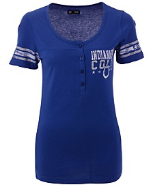 5th & Ocean Women's Indianapolis Colts Button Down T-Shirt