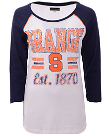 5th & Ocean Women's Syracuse Orange Team Stripe Raglan T-Shirt