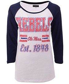 Women's Ole Miss Rebels Team Stripe Raglan T-Shirt