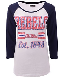 5th & Ocean Women's Ole Miss Rebels Team Stripe Raglan T-Shirt