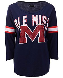 5th & Ocean Women's Ole Miss Rebels Stripe Sleeve Tunic