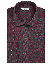 Bar III Men's Reg-Fit Stretch Easy-Care Watercolor Floral Dress Shirt, Created for Macy's