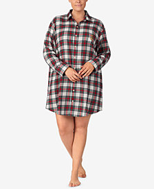 Lauren Ralph Lauren Plus Size Printed Cotton Sleepshirt