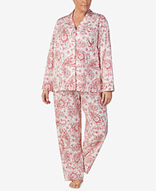 Lauren Ralph Lauren Plus Size Cotton Knit Pajama Set