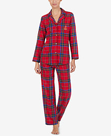 Lauren Ralph Lauren Petite Printed Cotton Pajama Set
