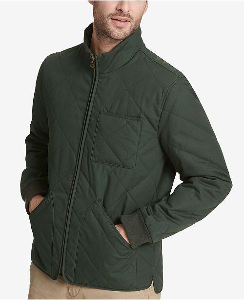 04330b18c Dockers Men s Quilted Depot Bomber Jacket   Reviews - Coats ...