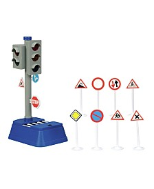 Dickie Toys - 9 Inch City Traffic Light and Accessories