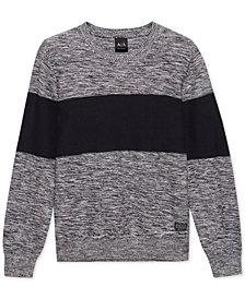 A|X Armani Exchange Men's Colorblocked Sweater