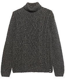 Armani Exchange Mens Gnarled Speckle Turtleneck