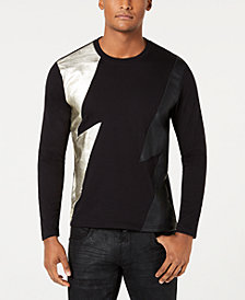 I.N.C. Men's Long-Sleeve Lightning T-Shirt, Created for Macy's
