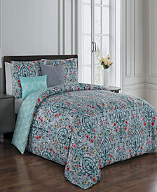 Trista 5 Pc Queen Comforter Set