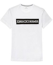 A X Armani Exchange Men's Backward Logo Print T-Shirt