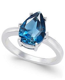 London Blue Topaz Ring (3-1/2 ct. t.w.) in Sterling Silver