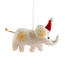 Global Goods Partners Embellished Felt Elephant Ornament