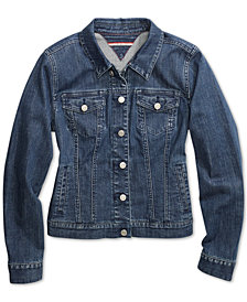 Tommy Hilfiger Adaptive Women's Jean Jacket wth Magnetic Buttons