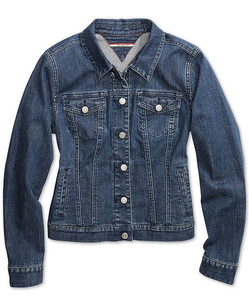 9367d9080 Tommy Hilfiger Women's Jean Jacket wth Magnetic Buttons & Reviews ...