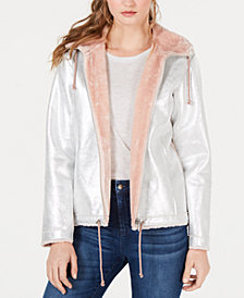 GUESS Reversible Faux-Fur-Lined Jacket