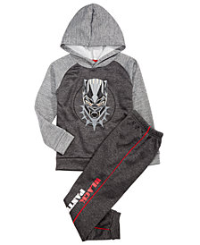 Marvel Little Boys Black Panther Hoodie & Joggers Set