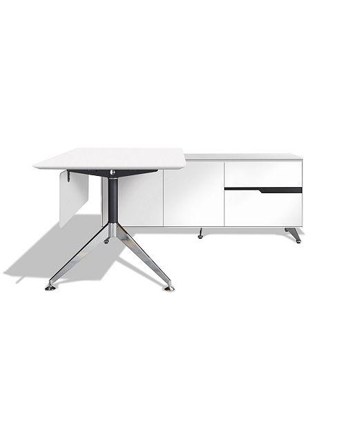 Furniture Pennin Right Return Desk, Quick Ship