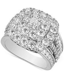 Diamond Double Halo Engagement Ring (4 ct. t.w.) in 14k White Gold