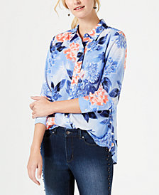 Charter Club Floral-Print Blouse, Created for Macy's