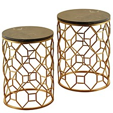 Set of 2 Dilila Round Side Table
