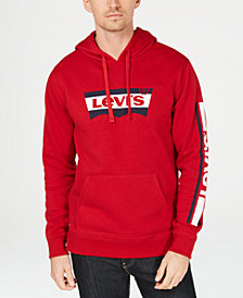 Levi's® Men's Croft Fleece Stripe Logo Hoodie