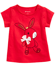 First Impressions Toddler Girls Cotton Bunny T-Shirt, Created for Macy's