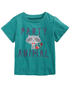 First Impressions Toddler Boys Party Animal-Print Cotton T-Shirt, Created for Macy's
