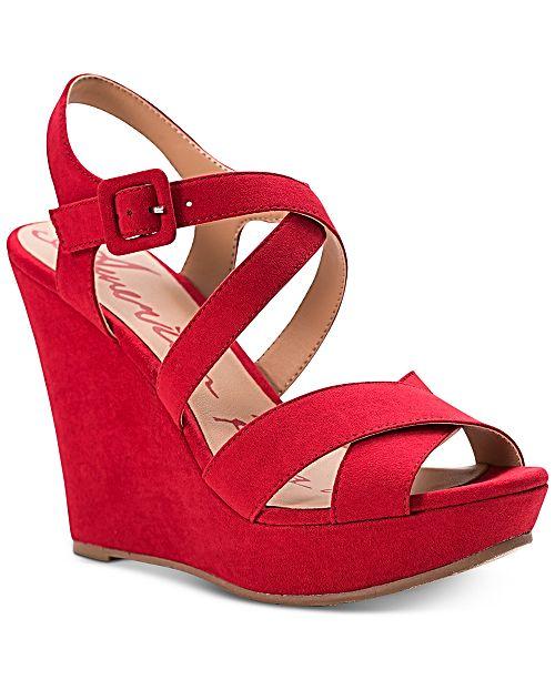 37130ed06f7 American Rag Rachey Dress Platform Wedge Sandals