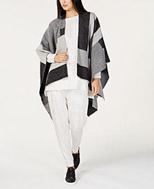 Eileen Fisher Colorblocked Poncho, Tunic & Ankle Pants