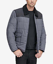 Marc New York Men's Howell Quilted Jacket with Fleece-Lined Collar