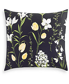 Charter Club Damask Designs Cotton Pressed Floral Printed European Sham, Created for Macy's