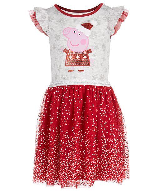 Peppa Pig Little Girls Santa Dress