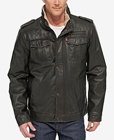 Levi's® Men's Faux Leather Utility Jacket