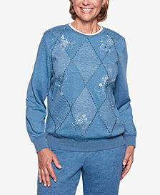 Alfred Dunner At Ease Embellished Sweatshirt