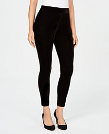 JM Collection Velvet Leggings, Created for Macy's