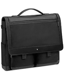 Montblanc Nightflight Black Single-Gusset Briefcase