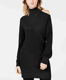 Bar III Cold-Shoulder Sweater Tunic, Created for Macy's