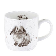 "Royal Worcester Wrendale  11 oz. Bunny Mug ""Rosie"" - Set of 6"