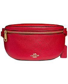 COACH Fanny Pack in Pebble Leather