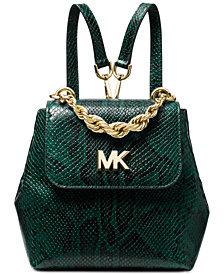MICHAEL Michael Kors Mott Chain Python Convertible Backpack