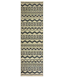 "Oriental Weavers Linden 7824A Grey/Blue 2'3"" x 7'6"" Runner Area Rug"